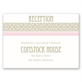 Sweet Romance - Reception Card
