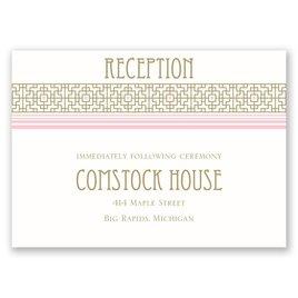 Sweet Romance - Reception Card