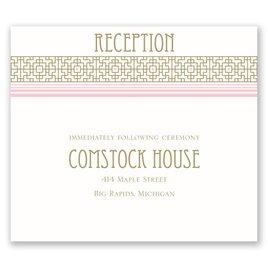 Sweet Romance - Pocket Reception Card