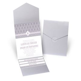 Sweet Romance - Silver Shimmer - Pocket Invitation