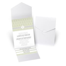 Sweet Romance - White Shimmer - Pocket Invitation