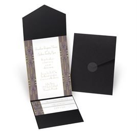 Grand Presentation - Black - Pocket Invitation