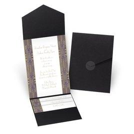 Grand Presentation - Black - Pocket Invitation