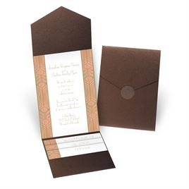 Grand Presentation - Brown Shimmer - Pocket Invitation