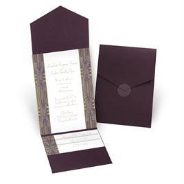 Grand Presentation - Eggplant - Pocket Invitation