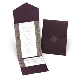 Grand Presentation - Eggplant - Pocket Invitation