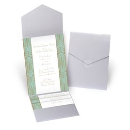 Grand Presentation - Silver Shimmer - Pocket Invitation