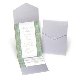 Grand Presentation - Silver Shimmer - Pocket Invitation