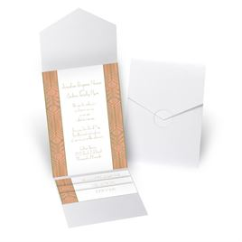 Grand Presentation - White Shimmer - Pocket Invitation