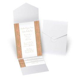 Grand Presentation - White Shimmer - Pocket Invitation