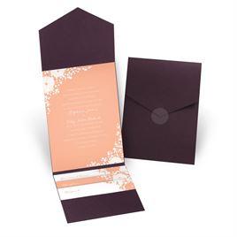 Sweet Dreams - Eggplant - Pocket Invitation