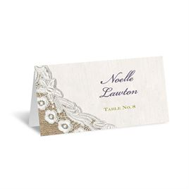 Embroidered Embrace - Escort Card
