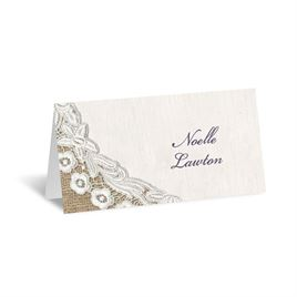 Embroidered Embrace - Place Card