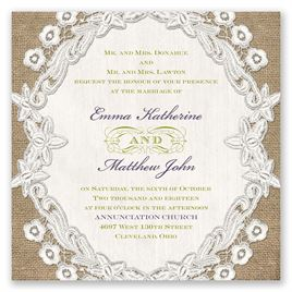 Embroidered Embrace - Invitation