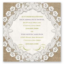 Embroidered Embrace - Pocket Accommodations Card