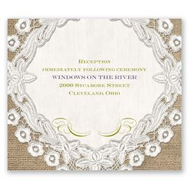 Embroidered Embrace - Pocket Reception Card