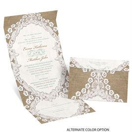 Embroidered Embrace - Seal and Send Invitation