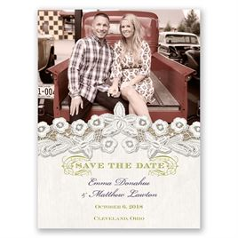 White Save The Dates: 