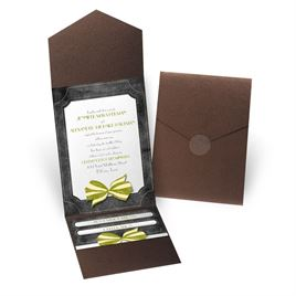 Simply Dashing - Brown Shimmer - Pocket Invitation