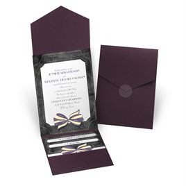 Simply Dashing - Eggplant - Pocket Invitation