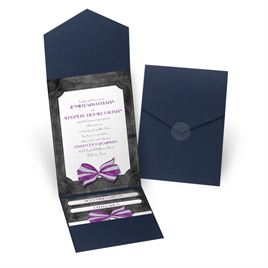 Simply Dashing - Navy - Pocket Invitation