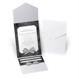 Simply Dashing - White Shimmer - Pocket Invitation