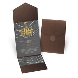 Mood Lighting - Brown Shimmer - Pocket Invitation