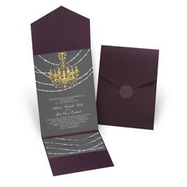 Mood Lighting - Eggplant - Pocket Invitation