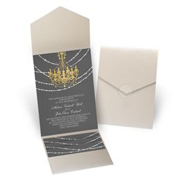 Mood Lighting - Gold Shimmer - Pocket Invitation