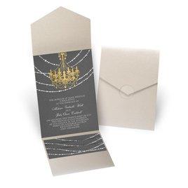 Mood Lighting - Gold Shimmer - Pocket Invitation