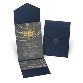 Mood Lighting - Navy - Pocket Invitation