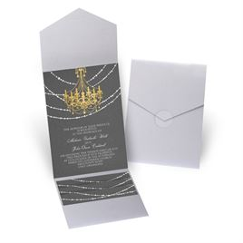 Mood Lighting - Silver Shimmer - Pocket Invitation