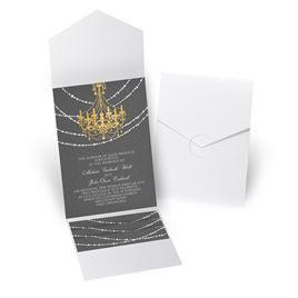 Mood Lighting - White Shimmer - Pocket Invitation