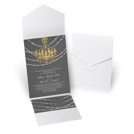 Mood Lighting - White Shimmer - Pocket Invitation
