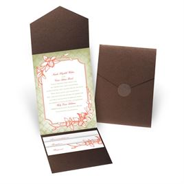Exotic Orchid - Brown Shimmer - Pocket Invitation