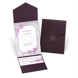 Exotic Orchid - Eggplant - Pocket Invitation