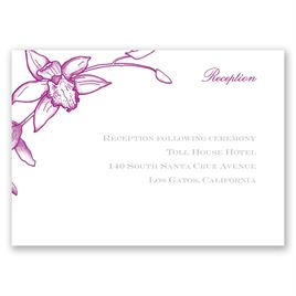 Exotic Orchid - Reception Card