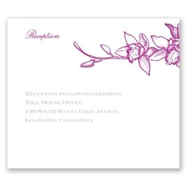 Exotic Orchid - Pocket Reception Card