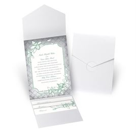 Exotic Orchid - White Shimmer - Pocket Invitation