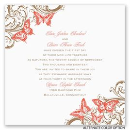 Love Takes Flight - Invitation