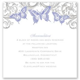 Love Takes Flight - Pocket Accommodations Card