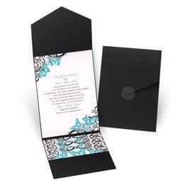 Love Takes Flight - Black - Pocket Invitation