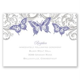 Love Takes Flight - Reception Card