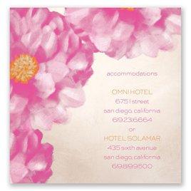 Spanish Poppy - Pocket Accommodations Card