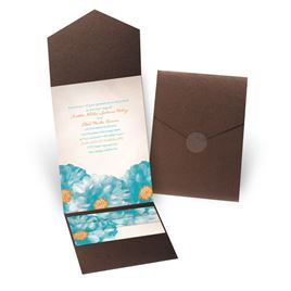 Spanish Poppy - Brown Shimmer - Pocket Invitation