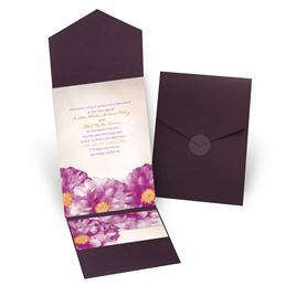 Spanish Poppy - Eggplant - Pocket Invitation