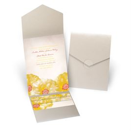 Spanish Poppy - Gold Shimmer - Pocket Invitation