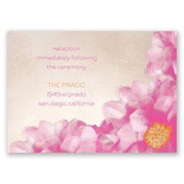 Spanish Poppy - Reception Card
