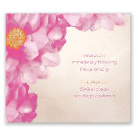 Spanish Poppy - Pocket Reception Card