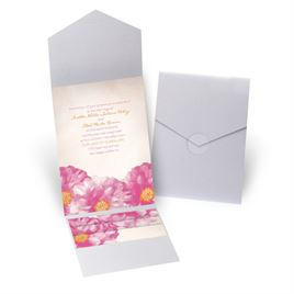 Spanish Poppy - Silver Shimmer - Pocket Invitation
